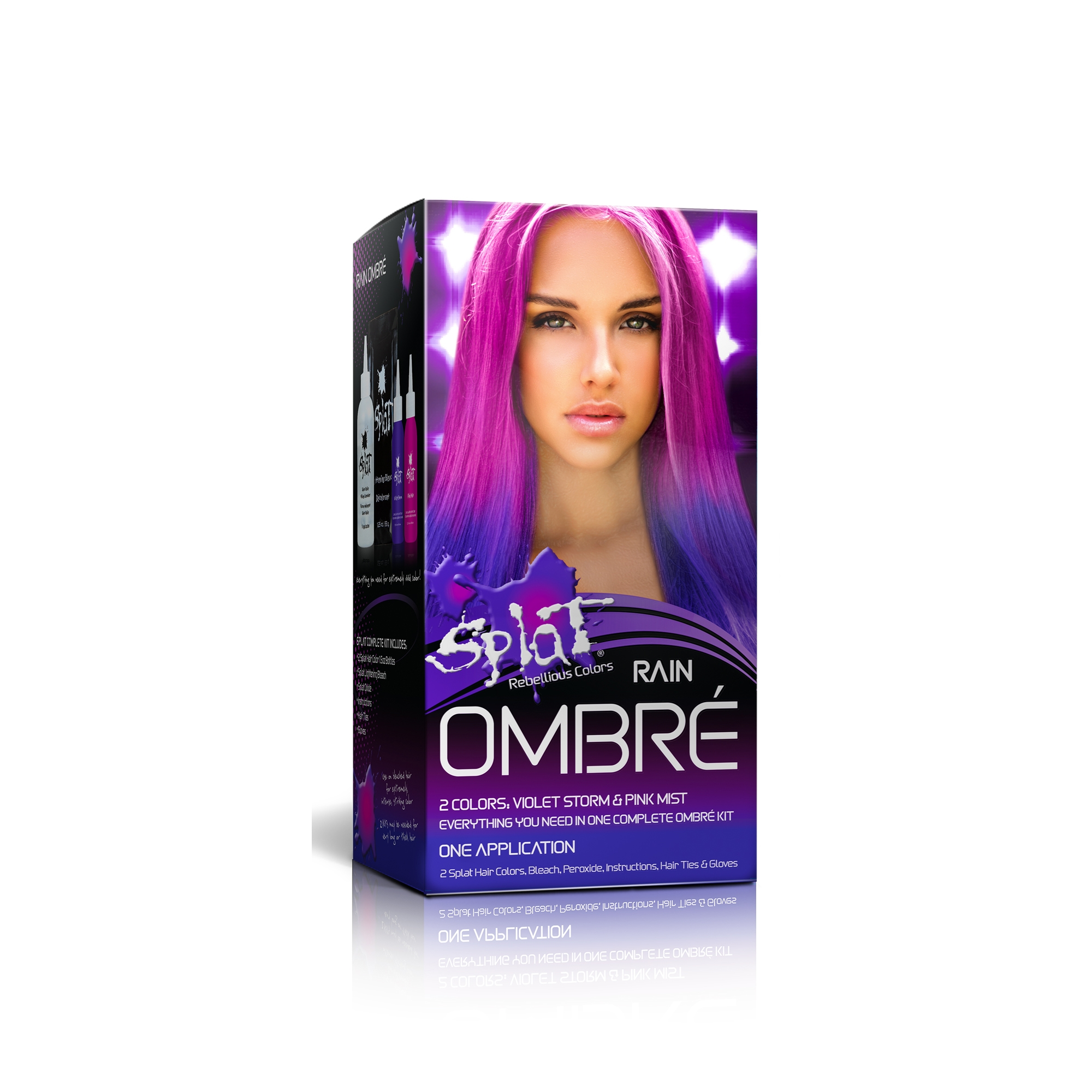 Splat Semi Permanent Bold Ombré Hair Color Kit; Rain Ombré
