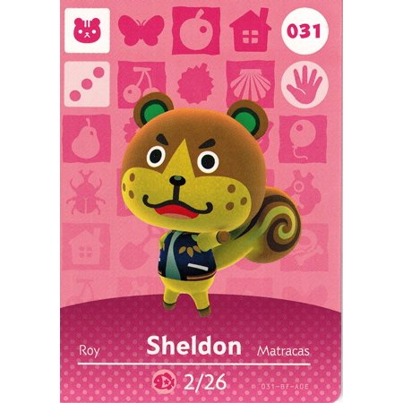 Animal crossing happy home designer amiibo card sheldon - Happy home designer amiibo figures ...