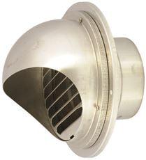 Noritz Tankless Water Heater Hood Termination, Single Wall, 4 In., Stainless Steel