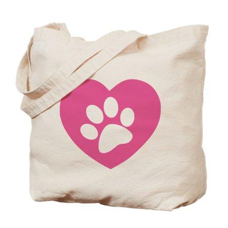 29c902734944 CafePress - CafePress - Heart Paw Print - Natural Canvas Tote Bag ...