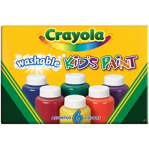 Crayola Washable Kid's Paint, 6-Pack