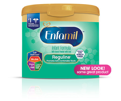 Enfamil Reguline Infant Formula for Soft Comfortable Stools, Powder, 20.4 oz Tub