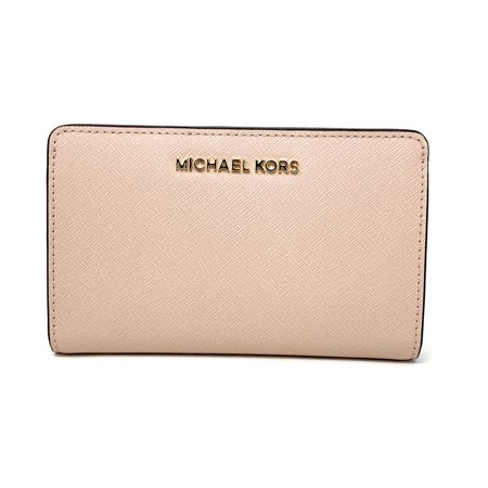 31f2a2fe899df9 Michael Kors - Michael Kors Jet Set Travel Slim Bifold Saffinao Leather  Wallet, Ballet - Walmart.com