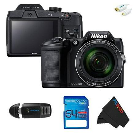Nikon COOLPIX B500 Digital Camera (Black) + SD Card + Pixi Starter Accessories Bundle - Digital Starter Kit