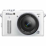 Nikon White AW1 Digital SLR Camera with 14.2 Megapixels and 11-27.5mm Lens Included