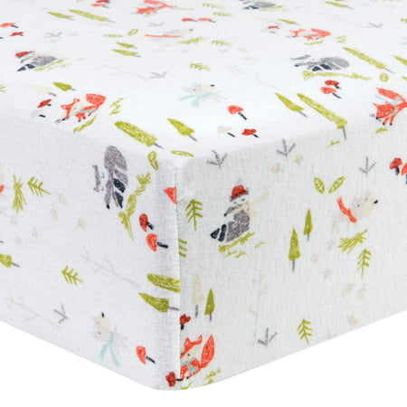 Winter Woods Deluxe Flannel Fitted Crib Sheet Walmart Com