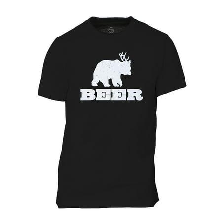 Beer Bear Deer Mens Short-Sleeve T-Shirt