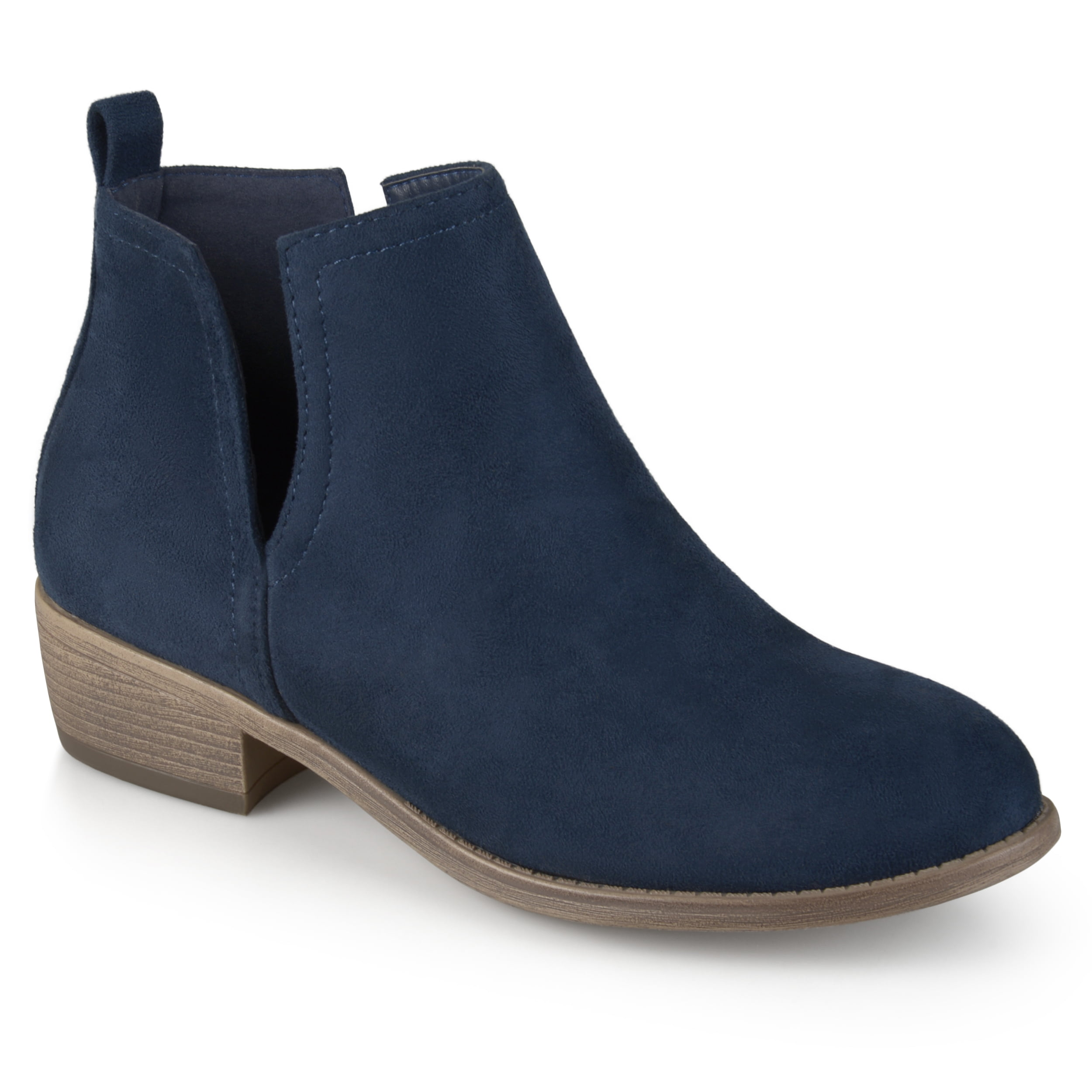 Womens Faux Suede Cut-out Round Toe