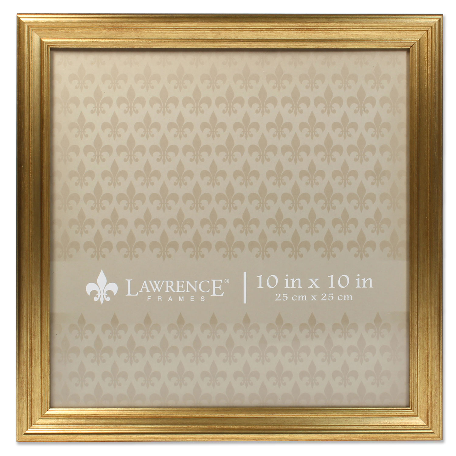 10x10 Sutter Burnished Gold Picture Frame by Lawrence Frames