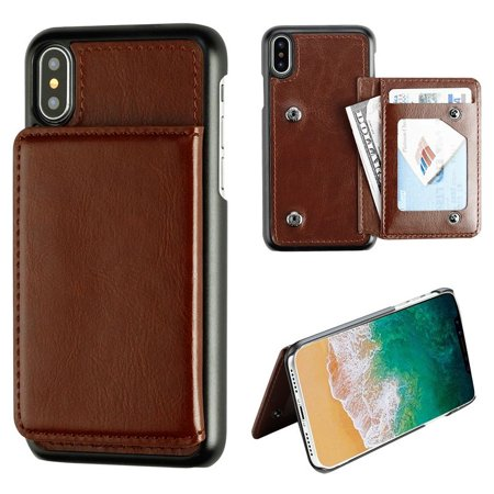 best sneakers 5df0f b8650 iPhone X Wallet Case Screen Protector Combo, by Insten Executive ...
