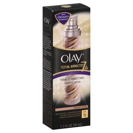 Olay CC Cream Total Effects Tone Correcting Facial Moisturizer with Sunscreen, Medium to Deep (Deep Moisture Facial Cream)