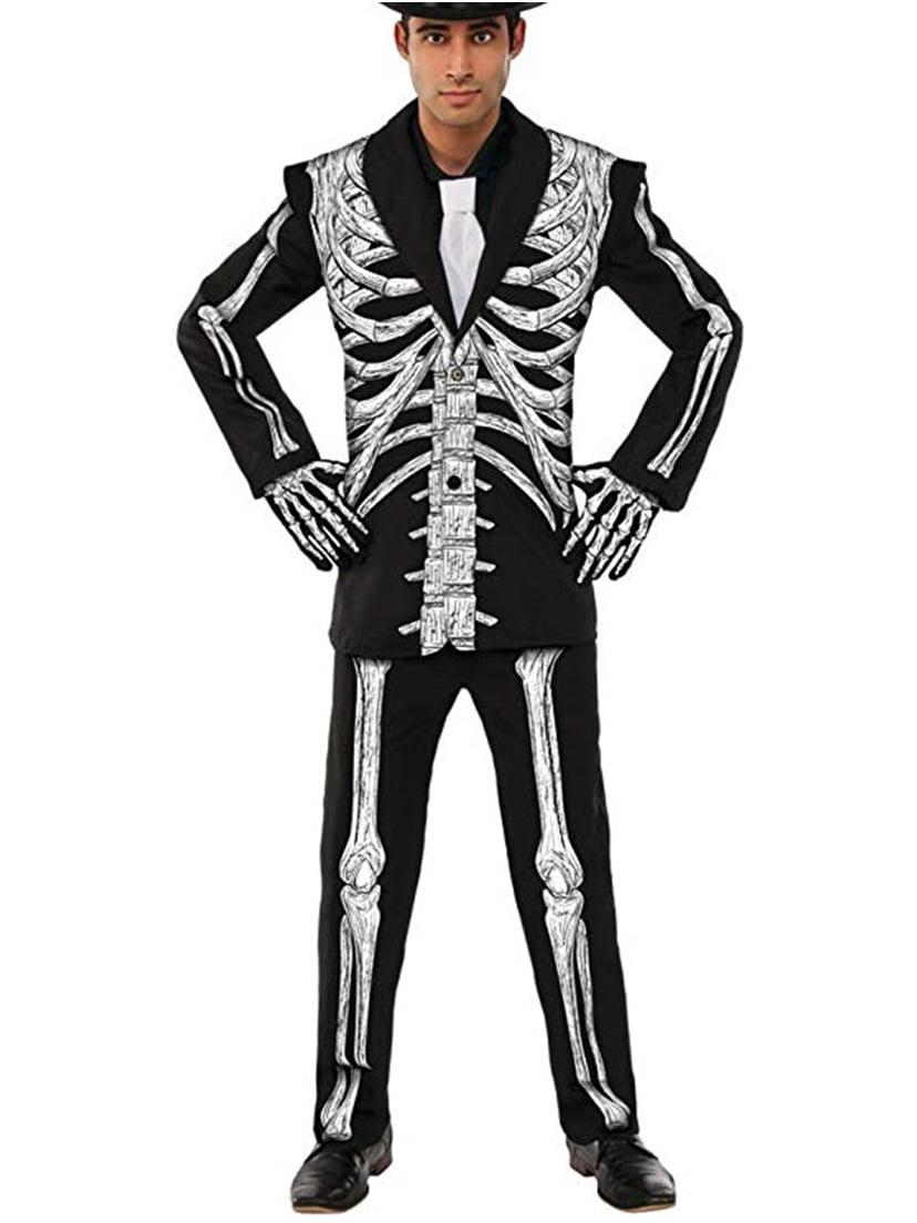 Adult Skeleton Formal Bone Suit Costume