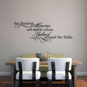The Fondest Memories' 45 x 16-inch Kitchen Wall Decal CRANBERRY