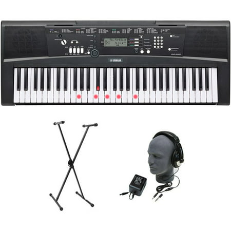 Yamaha EZ-220 61-Lighted Key Premium Portable Keyboard Package with Headphones, Stand and Power