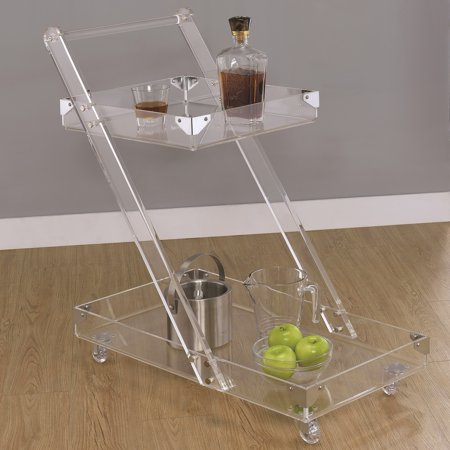 A Line Furniture Modern Chic Design Chrome and Acrylic Serving