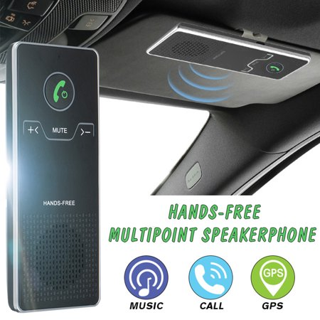 Car Wireless bluetooth Handsfree Speakerphone Multipoint Speakerphone Kit Car Sun Visor Hands-free Phone Audio Music Receiver Devices + Car + USB