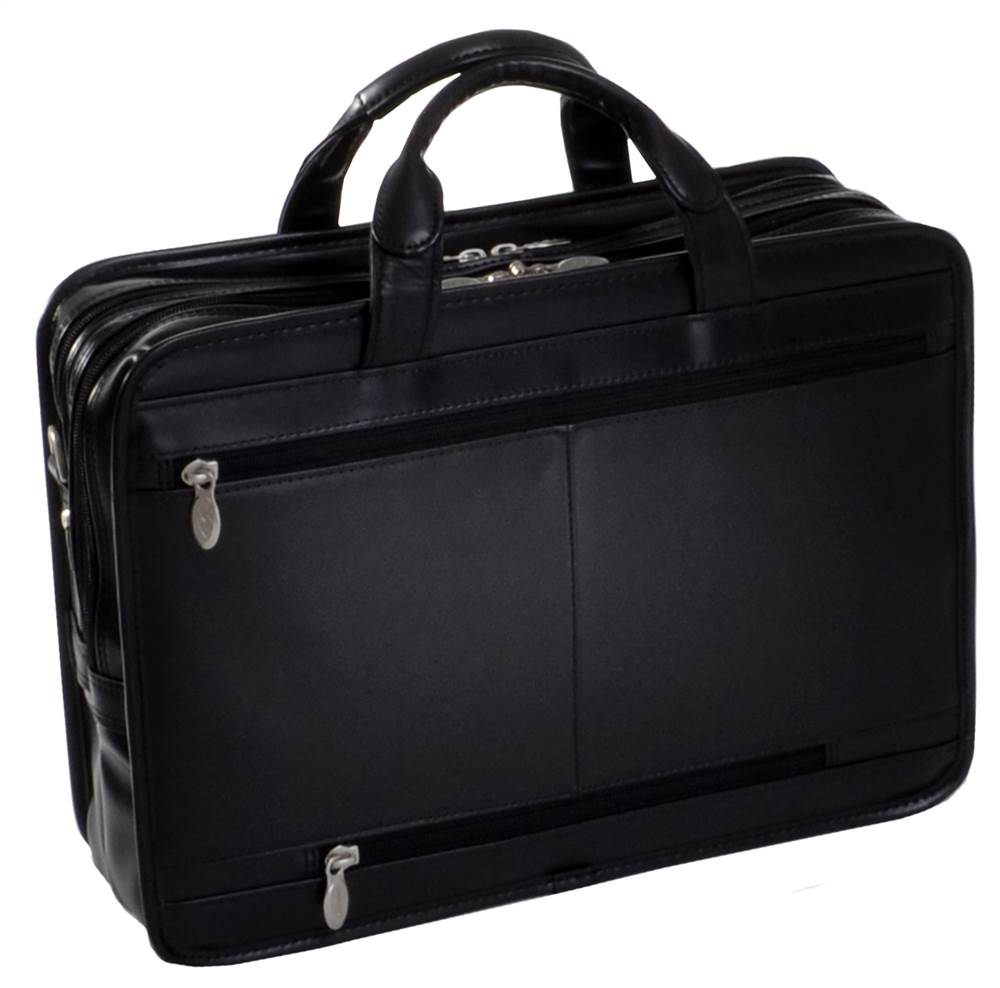 McKlein USA P Series Hubbard Leather Laptop Briefcase