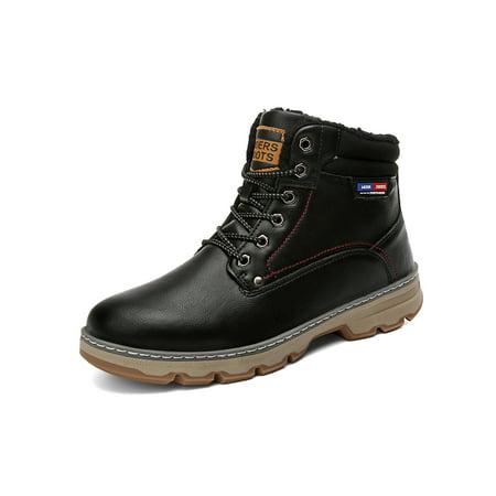 Men's Work Boots Composite Toe Resistant Leather Shoes Snowboots Composite Work Boots