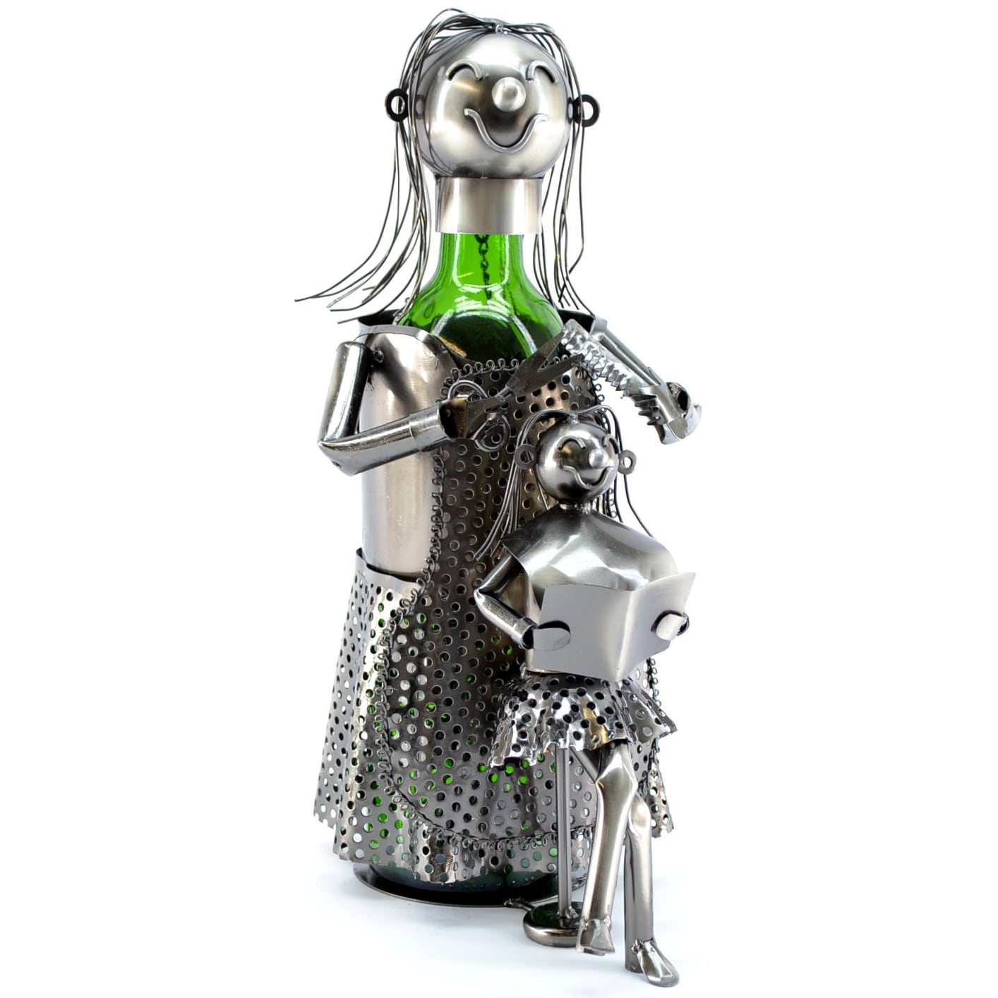 3starimex Wine Caddy Lady Hairdresser Wine Bottle Holder