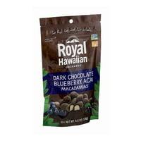 Royal Hawaiian Orchards Chocolate Macadamias, Blueberry Acai (6X4.5 OZ)