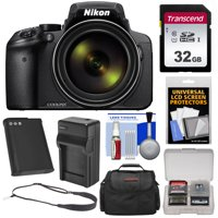 Nikon Coolpix P900 Wi-Fi 83x Zoom Digital Camera with 32GB Card + Battery + Charger + Case + Sling Strap + Kit