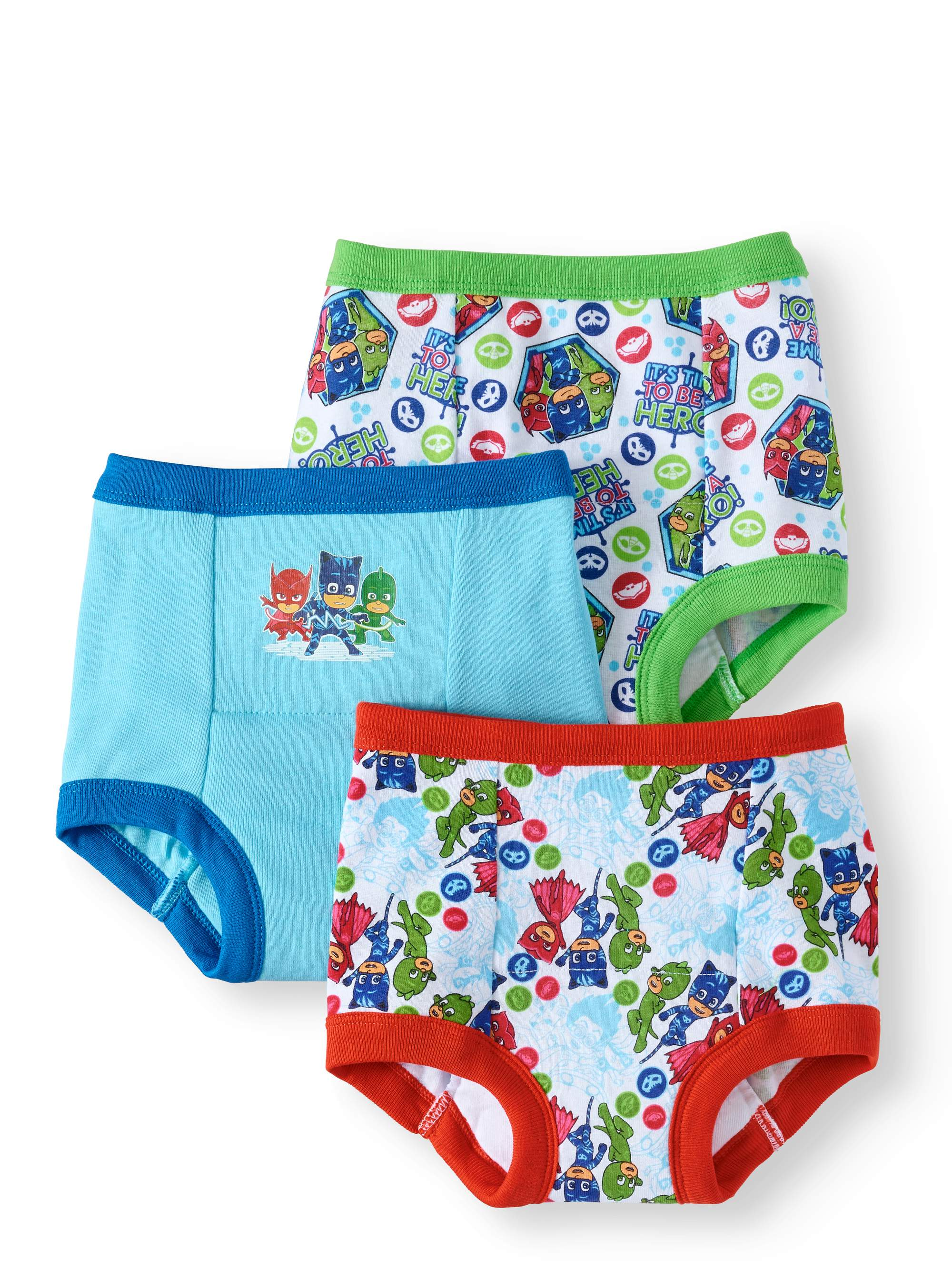 PJ Masks Toddler Boys Briefs 3 Packs of 3-9 Pairs Total Size 2T//3T