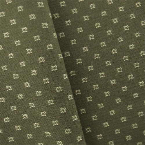 Green/Ivory JR Scott Wool Square Home Decorating Fabric, Fabric By the Yard