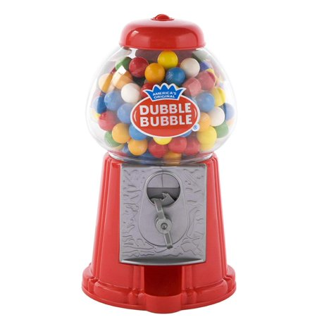 Coin Operated Gumball Machine Toy Bank Dubble Bubble Classic Style Includes 45 Gum Balls - Kids Coin Bank Great Gift for Boys & Girls and Carnival Parties, Giveaways, Fun Party Favor-Project - Carnival Supplies