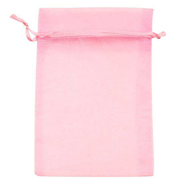 Light Pink Organza Drawstring Gift Bags 4x6 Inch (12 Bags ...