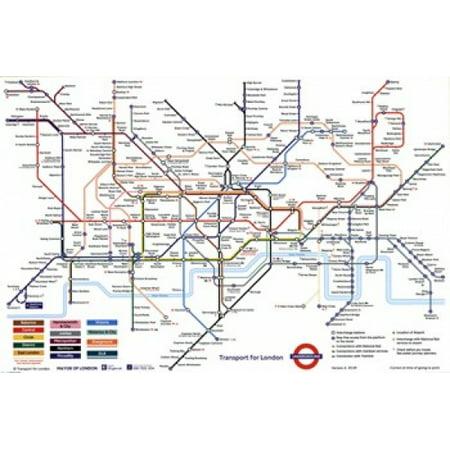 London Underground Map Poster Poster Print - Halloween London Underground