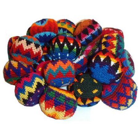 MultiColor Hacky Sack SET OF 25- Assorted Colors and Geometric Patterns