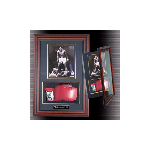 Caseworks International Boxing Glove and Photo Framed Memorabilia