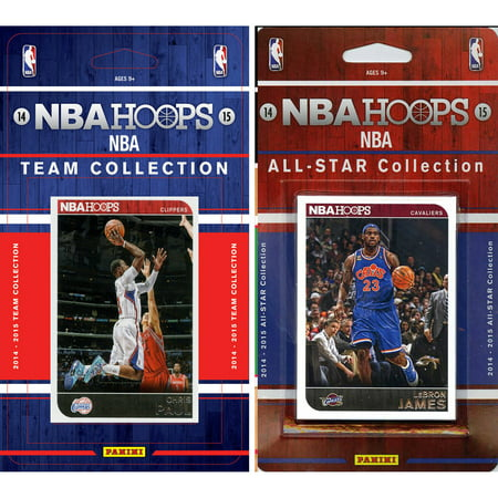 C&I Collectables NBA Los Angeles Clippers Licensed 2014-15 Hoops Team Set Plus 2014-15 Hoops All-Star Set by
