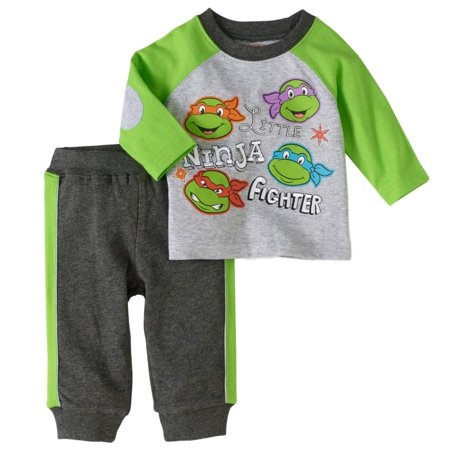 Teenage Mutant Ninja Turtles Outfit (Teenage Mutant Ninja Turtles Infant Boys Ninja Fighter Shirt & Pants)