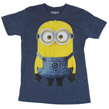 Despicable Me Mens T-Shirt -  Single Giant Overall Wearing Minion - Giant Minion