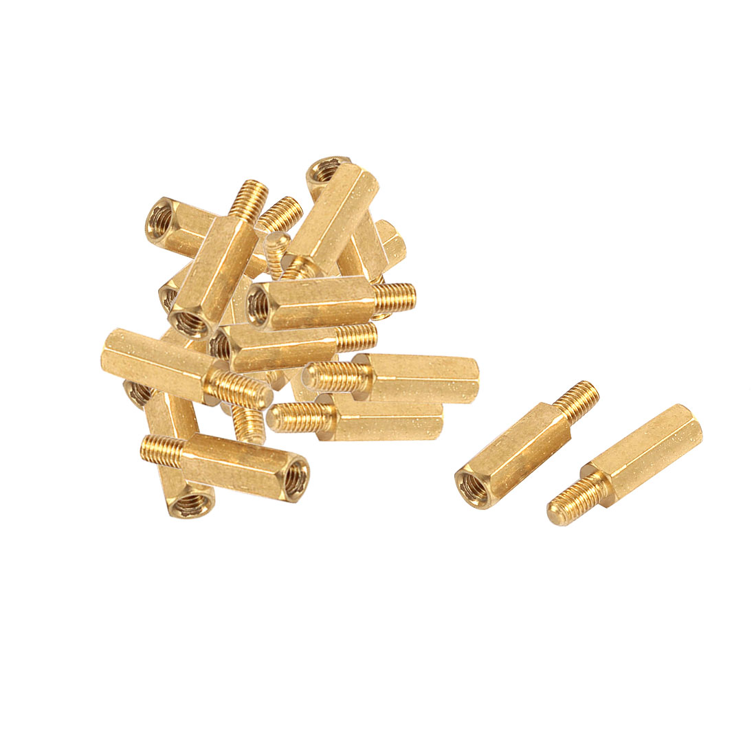 20 Pcs M3 12+6mm Brass Standoff Hexagonal Spacer for PC PCB Motherboard