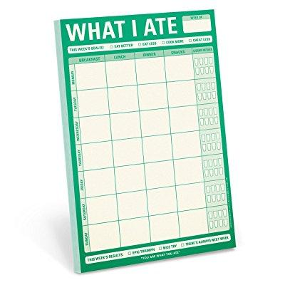 knock knock note pad, what i ate