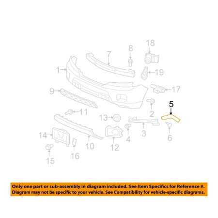 Honda 71193-SZA-A00 Front Bumper Spacer Honda (Honda Pilot Bumper Trim)