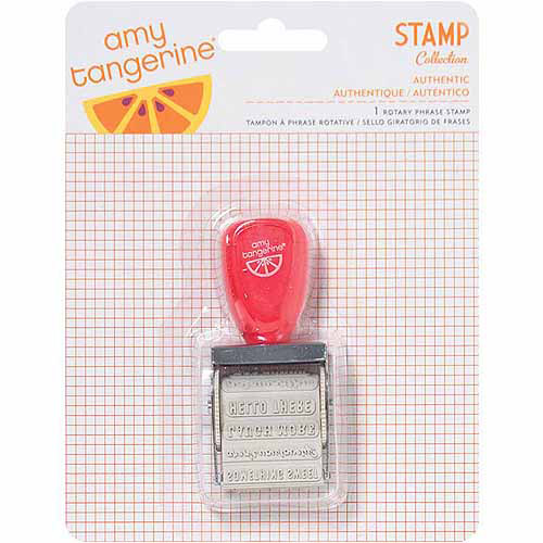 Amy Tangerine Yes Please Roller Stamp-12 Phrases