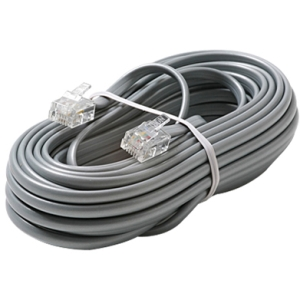 50 4C TELEPHONE LINE CORD SILVER