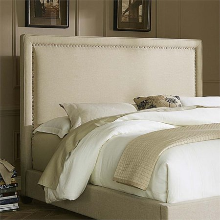 Liberty Natural - Liberty Furniture Linen Upholstered Queen Panel Headboard in Natural