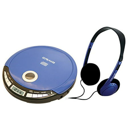 Craig Personal CD Player with Headphones and LCD (Best Sounding Portable Cd Player)