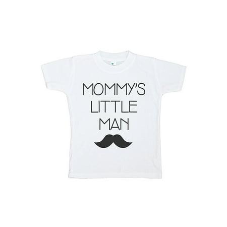 Custom Party Shop Baby Boy's Mommy's Little Man Mustache T-shirt - Black / XL Youth (18-20) - Mustache Man