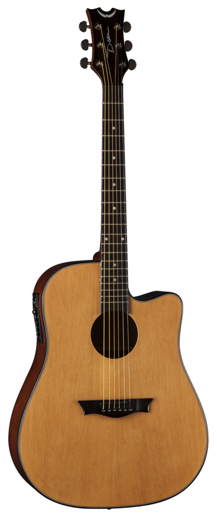 Dean Guitars AX DCE GN GN Dreadnought Cutaway Acoustic-Electric Guitar, Gloss Natural by Dean