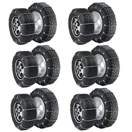 Radial Chain Cable Snow Cold Weather Traction Tire Winter Chain Set (6 Pack) - image 4 de 4