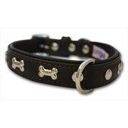 Angel Pet Supplies 41291 Rotterdam Bones Dog Collar in Chocolate Brown