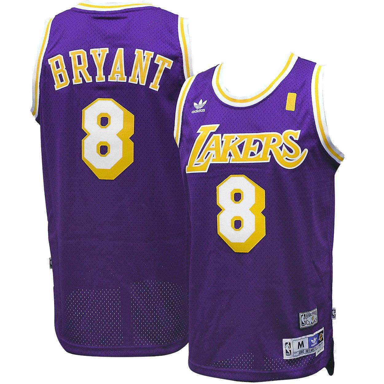 Adidas Los Angeles LA Lakers Kobe Bryant #8 Purple Road Adult Swingman Jersey