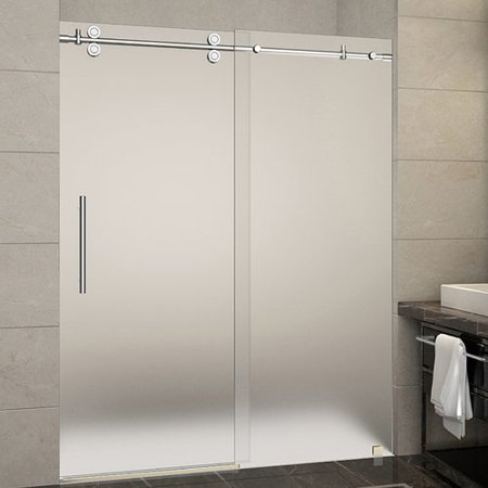 Aston Sdr978f 60 10 Langham X 75 Frameless Shower Door With 3 8 Frosted Gl