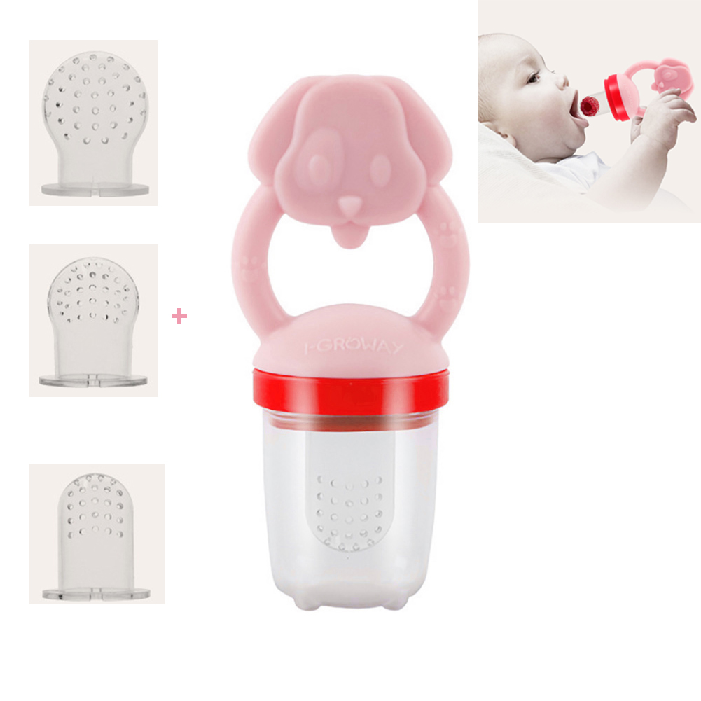 Fresh Food & Fruit Feeding Pacifier ,Mesh Feeder Teethers Teething Toy ,Great Baby Nibbler Food Feeder Teether ,Silicone Pouches