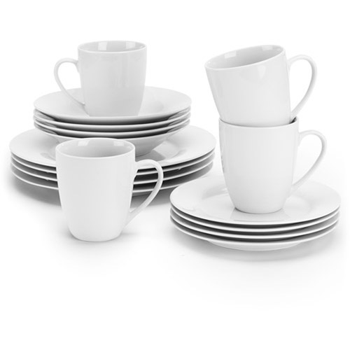 10 Strawberry Street Simply White Round 16-Piece Dinnerware Set by 10 Strawberry Street